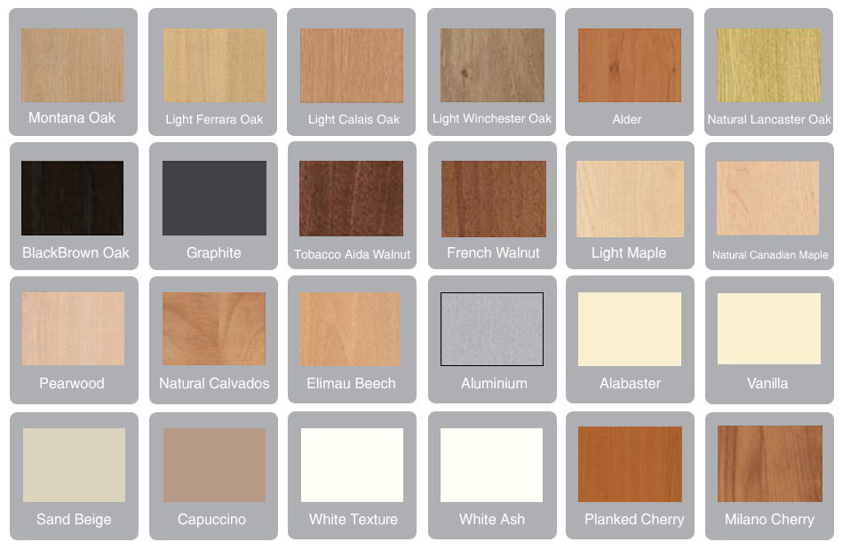 J Holmes Bedrooms wood colours